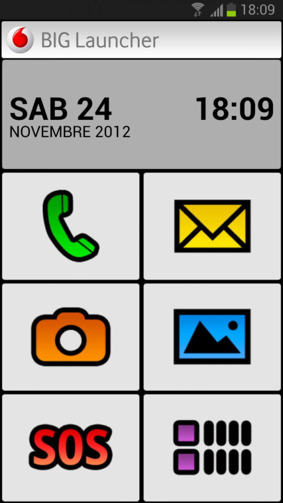 Vodafone BIG Launcher per Android