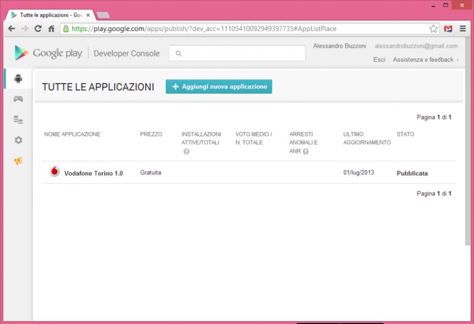 App Vodafone Torino